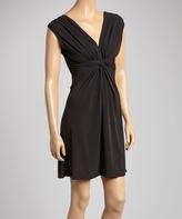 Glam Black Knot-Front Dress