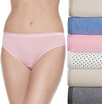 Fruit of the Loom Women's Signature 6-pack Ultra Soft Bikini Panties 6DUSKBK