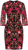 Naeem Khan Floral Embroidered Sheath Dress