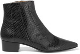 The Row Ambra Elaphe Ankle Boots - Black