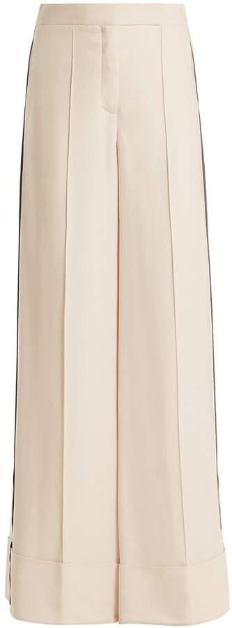 Amanda Wakeley Naha wide-leg stripe-detail trousers
