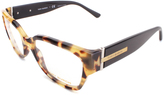 Tory Burch Black & Havana Cat-Eye Eyeglasses