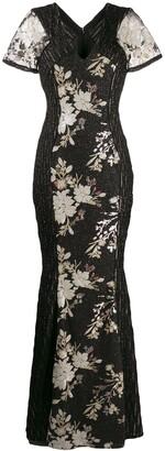 Talbot Runhof sequin long dress