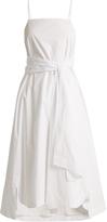Elizabeth and James Oak tie-front cotton dress