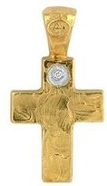 Torrini 18K Yellow Gold Cross with Diamond