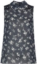 Miu Miu sleeveless ditsy micro-dotted blouse