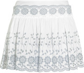 See by Chloe Broderie anglaise cotton mini skirt