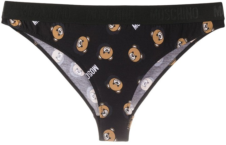 Moschino Teddy motif print briefs