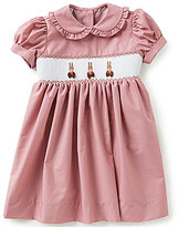 Edgehill Collection Baby Girls Easter Bunny Smocked Dress