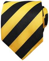 Bestow Neckties Bestow & Black Striped Mens Ties - Necktie