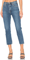 A Gold E AGOLDE Riley High Rise Straight Crop in Blue. - size 28 (also in )