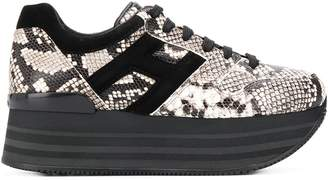 Hogan H222 snakeskin-print sneakers