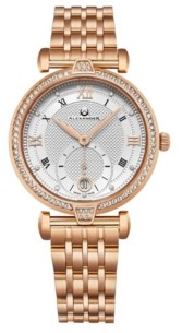Stuhrling Original Alexander Watch AD202B-04, Ladies Quartz Small-Second Date Watch with Rose Gold Tone Stainless Steel Case with Rose Gold Tone Stainless Steel Bracelet