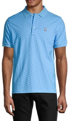 Psycho Bunny Lounge Printed Stretch-Cotton Polo