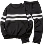 BULUOLANDI Mens Sports Pullover Hoodie Tracksuit Sweat Pants Set