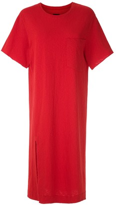 OSKLEN side slit T-shirt dress