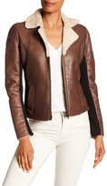 Doma Moto Jacket with Knit Details