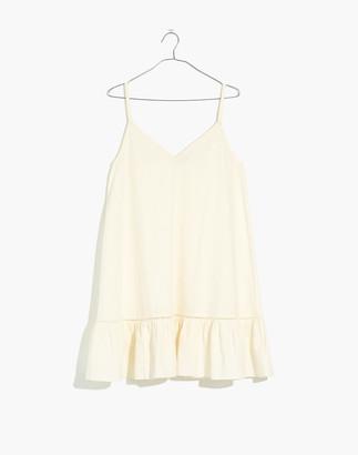 Madewell Cami Ruffle-Hem Cover-Up Dress