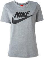 Nike logo print T-shirt - women - Polyester/Modal - S