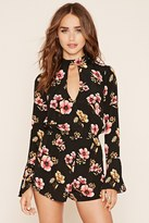 Forever 21 FOREVER 21+ Keyhole Cutout Floral Romper