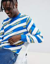 Wrangler Repeat Logo Stripe Sweatshirt