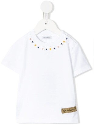 Dolce & Gabbana Kids jersey T-shirt with studs