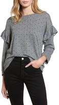 Current/Elliott Women's The Ruffle Sweatshirt