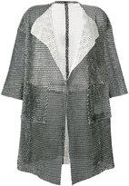 Giorgio Brato short-sleeve mesh coat