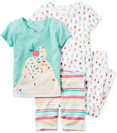 Carter's 4-Pc. Ice Cream Pajama Set, Toddler Girls (2T-5T)