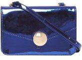 Dorothy Perkins Womens Blue Metallic Lock Cross Body bag- Blue