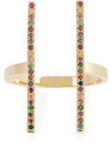 Ileana Makri Rainbow stones & yellow-gold ring