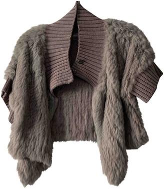 La Perla Grey Rabbit Jacket for Women