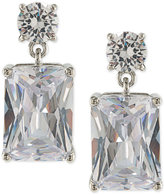 Carolee Silver-Tone Cubic Zirconia Drop Earrings