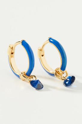 Anthropologie Tatum Huggie Hoop Earrings By in Blue Size ALL