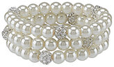 Cezanne Faux-Pearl & Pav Fireball Bracelet Set
