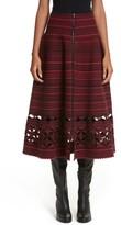 Fendi Women's Fair Isle Wool Blend Skirt