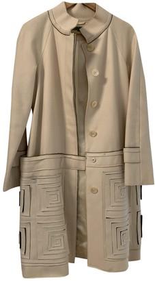 Vivienne Tam White Wool Coat for Women