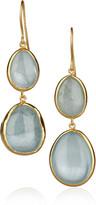 Pippa Small 18-karat gold aquamarine earrings