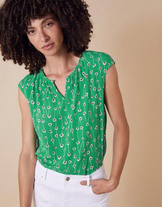 Monsoon Printed Sleeveless Top with LENZING ECOVERO Green