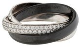 Cartier 18K Small Trinity de Diamond & Ceramic Ring