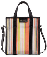 Balenciaga Bazar Shopper XS AJ Mesh Tote Bag, Orange/Black