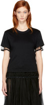Noir Kei Ninomiya Black Tulle Hem T-shirt