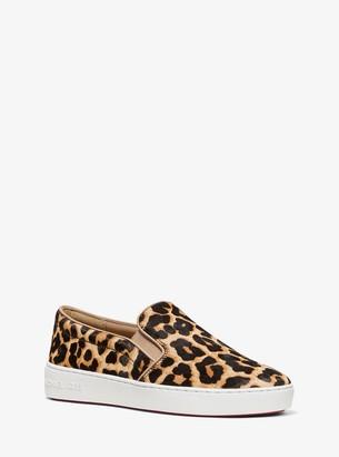 MICHAEL Michael Kors Keaton Leopard Calf Hair Slip-On Sneaker