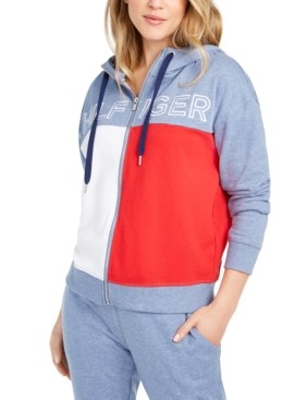 Tommy Hilfiger Colorblocked Zip-Up Hoodie
