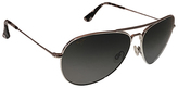 Maui Jim Silver & Neutral Gray Aviator Sunglasses