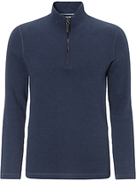 John Lewis French Rib Zip Neck Jumper