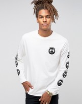 Love Moschino Peace Back Print Long Sleeve Top