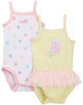 Absorba Strawberry Tutti Frutti Tank Bodysuit - Pack of 2 (Baby Girls)
