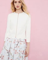 Ted Baker Scallop trim cropped jacket