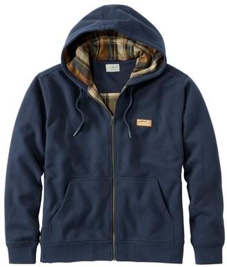L.L. Bean Men's Katahdin Iron Works Hooded Sweatshirt, Flannel-Lined